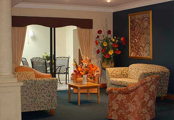 Bateman Aged Care Residence lounge with sofa