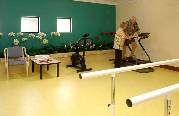Fitness centre at an aged care residence in Lake Joondalup Perth