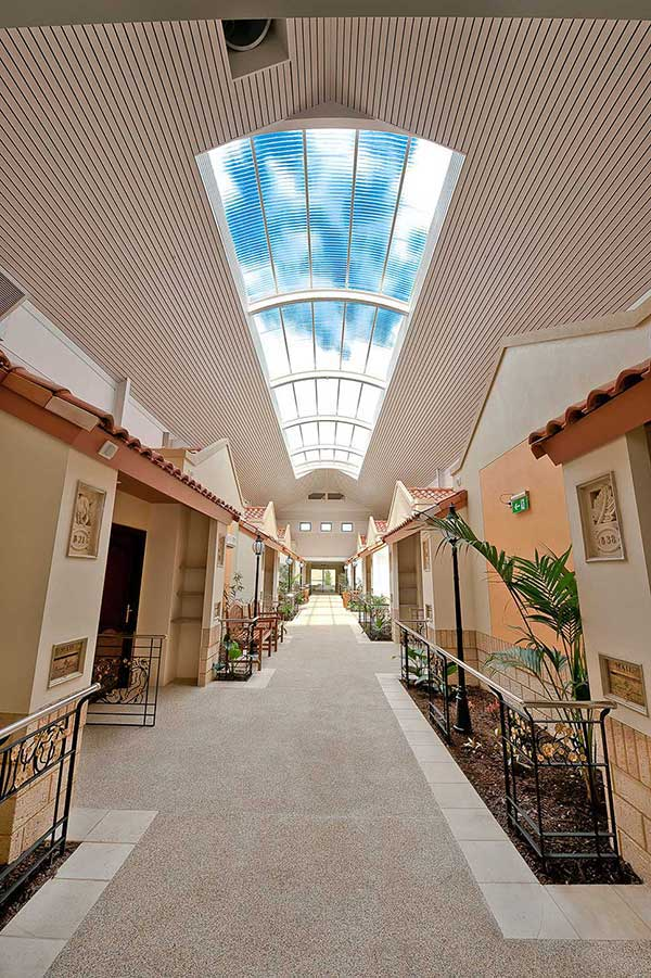 Beautiful indoor corridor at Regents Garden retirement bungalows